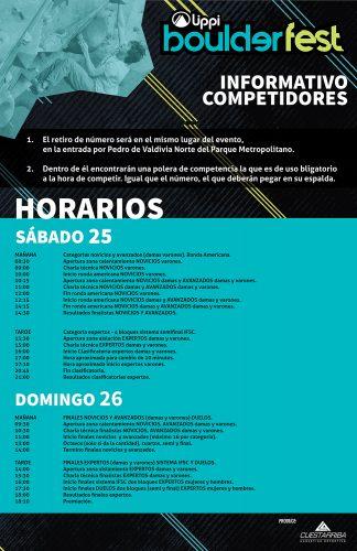 IMPORTANTE: Informativo Competidores